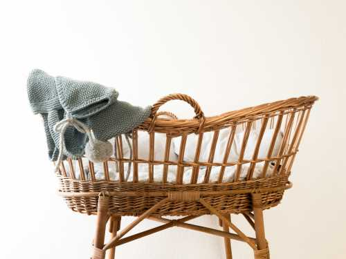baby basket with blanket