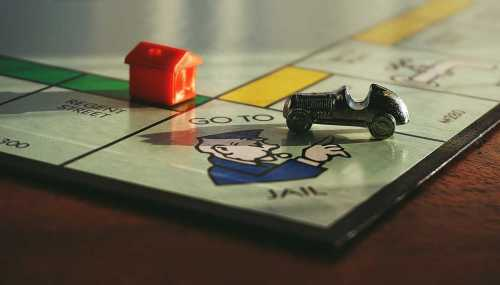 monopoly board game go to jail corner