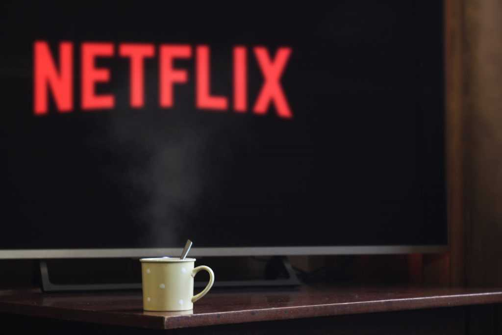 screen with netflix on it